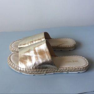 NINE WEST gold espadrille sandals!